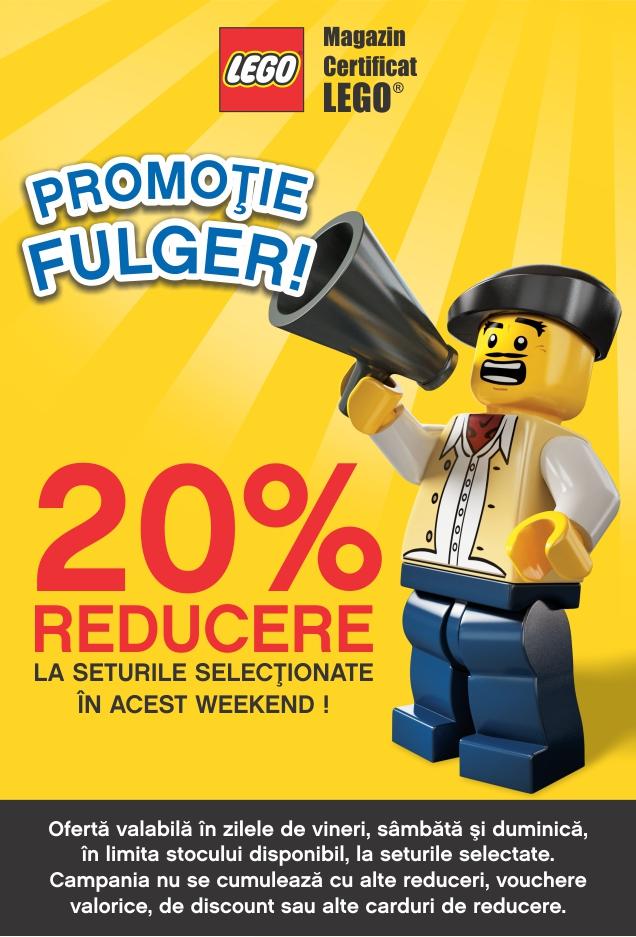 20% reducere la o selectie de seturi LEGO® exclusive