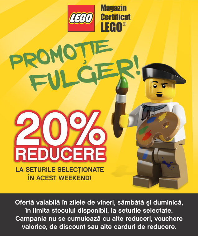 20% reducere la o selectie de seturi LEGO®